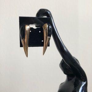 Vintage Metal Teardrop Earrings